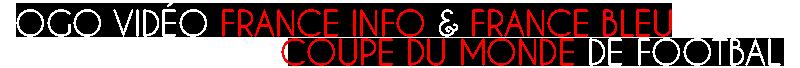 Logo Video France Info France Bleu Coupe du Monde
