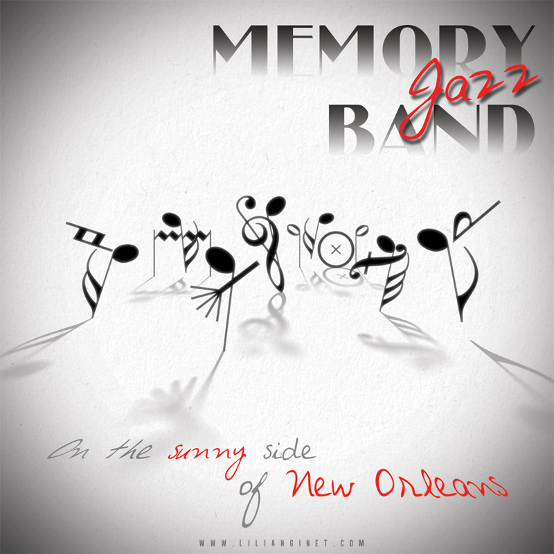 "MEMORY JAZZ BAND : Album ""Under The Sunny Side of New Orleans"", Couverture"