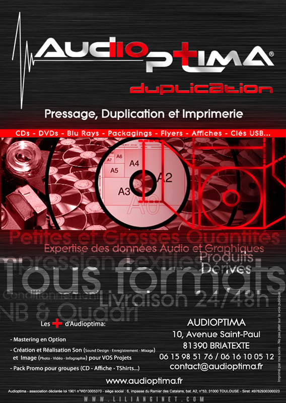 AUDIOPTIMA : Flyer Duplication A6